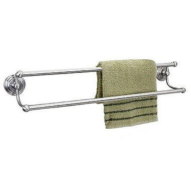 Dynasty Hardware Newport Double 24'' Wall Mounted Towel Bar; Satin Nickel