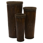 IMAX Tall 3 Piece Round Pot Planter Set (Set of 3)