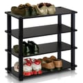 Furinno Turn-S-Tube 4-Tier Shoe Rack; Espresso