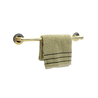Dynasty Hardware Newport Single 24'' Wall Mounted Towel Bar; Polished Brass