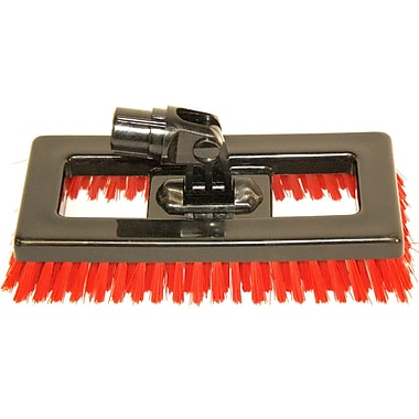 SYR Swivel Deck Brush BLK Bristles; Red