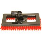 SYR Swivel Deck Brush BLK Bristles; Red