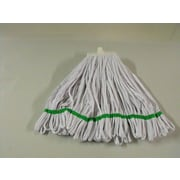 SYR Changer Polystrip Mop; White with Green Band