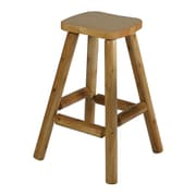 Moon Valley Rustic 30'' Bar Stool; Amber Varnish