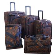 American Flyer Budapest 5 Piece Spinner Luggage Set; Metallic Blue
