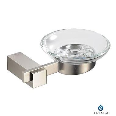 Fresca Ellite Soap Dish; Brushed Nickel