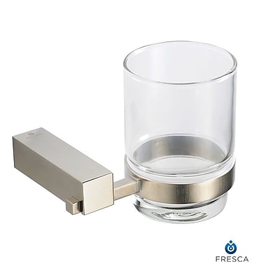 Fresca Ottimo Tumbler and Tumbler Holder; Brushed Nickel
