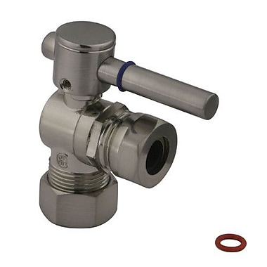 Elements of Design South Beach Angle Stop Valve; Satin Nickel