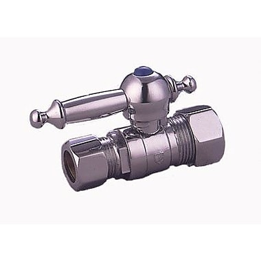 Elements of Design Decorative Quarter Turn Valves w/ Templeton Lever Handles; Polished Chrome