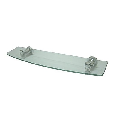 Elements of Design Milano 20'' x 2'' Bathroom Shelf; Chrome