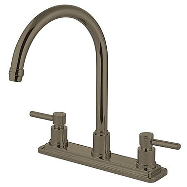 Elements of Design South Beach Double Handle Kitchen Faucet; Satin Nickel