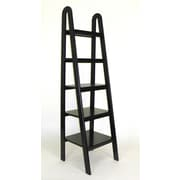 Wayborn Ladder 67.5'' Accent Shelves; Black