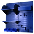 Wall Control Hobby Craft Pegboard Organizer Storage Kit; Blue