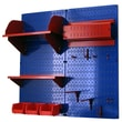 Wall Control Pegboard Hobby Craft Pegboard Organizer Storage Kit; Blue and Red