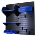 Wall Control Pegboard Hobby Craft Pegboard Organizer Storage Kit; Black and Blue