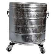 Geerpres Galvanized 8 Gallon Round Mop Bucket with 2'' Casters