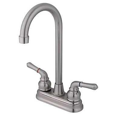 Elements of Design Magellan Centerset Bar Faucet w/ Magellan Lever Handles; Satin Nickel
