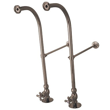 Elements of Design Vintage Rigid Freestand Supply w/ Metal Cross; Satin Nickel
