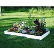 Guarden Vinyl Standard Rectangle Raised Garden Bed Frame; 36'' x 72''