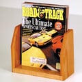 Wooden Mallet Countertop Single Pocket Magazine Display; Medium Oak