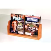 Wooden Mallet Countertop Two Pocket Magazine Display; Medium Oak