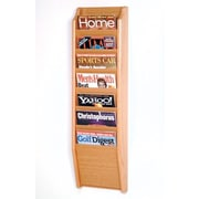 Wooden Mallet 7 Pocket Wall Mount Magazine Rack; Light Oak