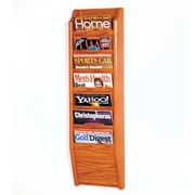 Wooden Mallet 7 Pocket Wall Mount Magazine Rack; Medium Oak