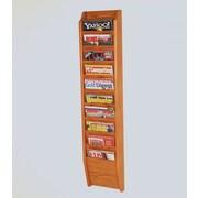 Wooden Mallet 10 Pocket Wall Mount Magazine Rack; Medium Oak