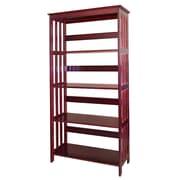 ORE Furniture 60'' Etagere Bookcase; Cherry