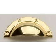 Omnia Classic & Modern 2 1/2'' Center Cup/Bin Pull; Polished Brass