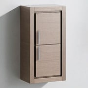 Fresca 15.75'' x 32''  Linen Side Cabinet; Grey Oak