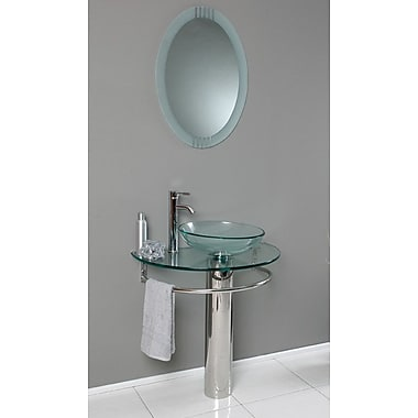 Fresca Vetro 30'' Single Attrazione Modern Bathroom Vanity Set w/ Mirror