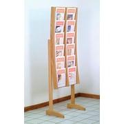 Wooden Mallet 12 Pocket Contemporary Floor Display; Light Oak