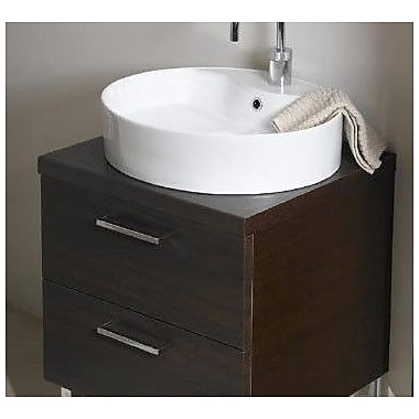 Iotti by Nameeks Aurora 23'' Single Bathroom Vanity Top; Wenge