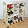 Storage Dynamics 18 Pocket Rolling Shoe Bin