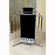 Kingston Brass Edenscape Free Standing Towel Rack; Satin Nickel