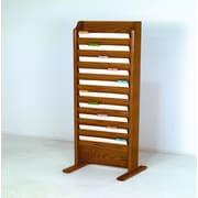 Wooden Mallet Free Standing Ten Pocket Legal Size File Holder; Medium Oak