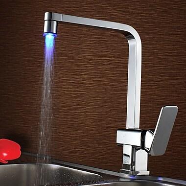 Sumerain Single Handle Deck Mount LED Kitchen Faucet