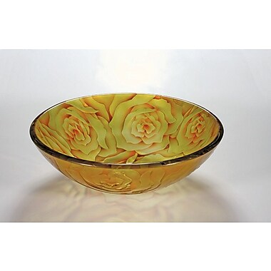 Legion Furniture Vessel Bathroom Sink; Yellow Rose