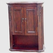 Empire Industries Lido 26.31'' W x 34'' H Wall Mounted Cabinet; Dark Mahogany