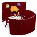 Angeles SoundSponge Quiet Dividers Wall with 2 Support Feet; Strawberry