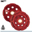 Diteq CD14 Cup Grinding Wheel; 4'' x 7/8-5/8''