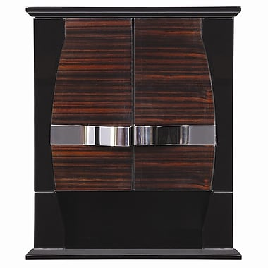 DecoLav Natasha 22'' x 26'' Wall Mounted Cabinet; Ebony / Black Gloss