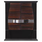 DecoLav Natasha 22'' W x 26'' H Wall Mounted Cabinet; Ebony / Black Gloss