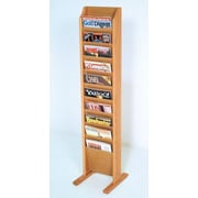 Wooden Mallet 10 Pocket Free Standing Magazine Rack; Light Oak
