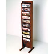 Wooden Mallet 10 Pocket Free Standing Magazine Rack; Dark Red Mahogany