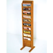 Wooden Mallet 10 Pocket Free Standing Magazine Rack; Medium Oak