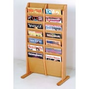Wooden Mallet 14 Pocket Free Standing Magazine Rack; Light Oak