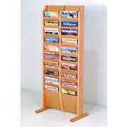 Wooden Mallet 20 Pocket Free Standing Magazine Rack; Light Oak