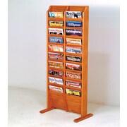 Wooden Mallet 20 Pocket Free Standing Magazine Rack; Medium Oak